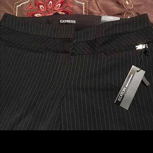 Women Designer Express Pinstriped slacks Size 6S